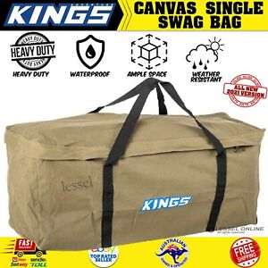 Canvas Swag Bag Kings Deluxe Single Carry Adventure Large Camping Heavy Duty AU