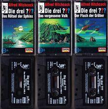 3 x MC Die drei ??? 100 A, 100 B, 100 C - Toteninsel - EUROPA Logo!