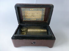 EXC. Rare Antique 1900s 3Airs Snuff Box Size Cylinder Type Tabatiere Music Box