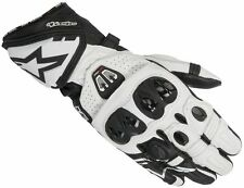 Alpinestars GP PRO R2 White Glove Leather Motorbike Motorcycle Race Gloves