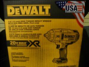 "DeWALT DCF899HB 20-Volt MAX 1/2"" Brushless Cordless Impact Wrench Hog Ring Anvil"