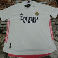 adidas Men's Real Madrid 20/21 Authentic Home Jersey White FM4736 XL