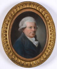 """Portrait of Baron von Blum"", German (Austrian?) pastel portrait, 1780"