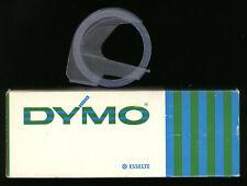 1x Dymo 9mm x 2,0M PRÄGEBAND black SCHWARZ seidenglanz für prägeetiketten label