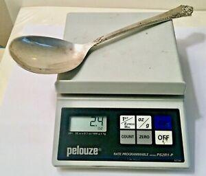 Vintage Heirloom Sterling Silver Serving Spoon Damask Rose (2.4 Oz.-67 Grams)!