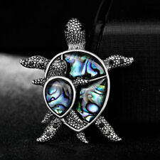 Lovely Natural Shell Alloy Turtle Animal Brooch Lapel Scarf Pin Women Jewelry