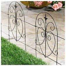 "(10) Panacea Products 89379 18"" x 8' Black Romantic Garden Folding Fence Fencing"
