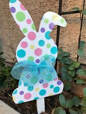 Easter polkadot bunny yard decoration