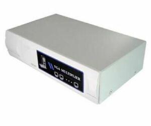VGA Splitter Amplifier Multiplier VM-112A 2-Port SVGA 400 MHz w/Power Adapter