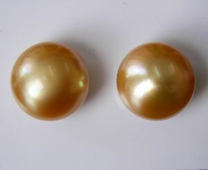 15mm!! GOLD AUST SOUTH SEA PEARLS UNDRILLED 100% UNTREATED+CERTIFICATE AVAILABLE
