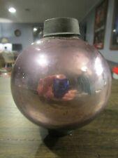 Antique Glass Lightning Rod Ball - Round Pink Mercury - Smaller Size