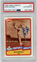 PACKERS Don Hutson signed card 1989 Swell #10 PSA/DNA Slab AUTO Autographed HOF