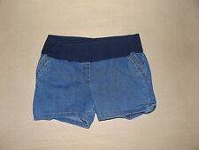 Cotton Blend Denim Maternity Shorts
