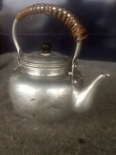 Vtg aluminum coffee tea pot single personal serving Made in Japan infuser