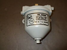 WWII type AC Fuel Filter Model T-2 w/ T-12 Brass Strainer Element OEM GM GF-30A