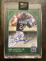 Ken Griffey Jr. 2019 Topps 150 Years of Baseball GREEN Autograph! 22/49