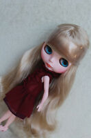 """Takara 12"""" Neo Blythe Doll from Factory Nude doll Light Golden Curly Long Hair"""