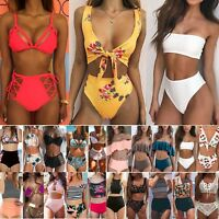 Womens High Waisted Bikini Set Swimsuit Bathing Suit Swimwear Beachwear Swimming
