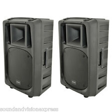 "2x Citronic CV12A 12"" 1200W Powered Active DJ Band PA Speaker or Monitor + Mixer"