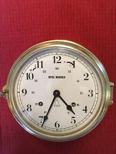 Royal Mariner Large Ship's Clock Running w Key Made In Germany Great Condition