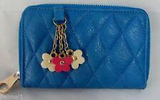 Portafogli e borsellini da donna blu con organizer