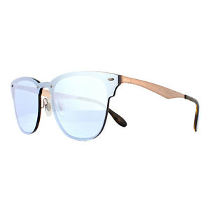 Ray-Ban Sunglasses Blaze Clubmaster 3576N 90391U Bronze Copper Violet Mirror