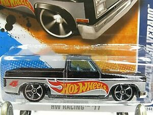 HOT WHEELS VHTF 2011 RACING SERIES 83 CHEVY SILVERADO WALMART COLOR