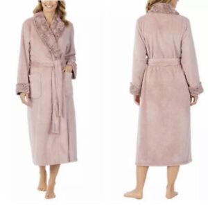 Womens Carole Hochman  Luxuriously Soft Plush Wrap Robe Pink Size:S NWT