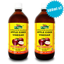 Dr Patkars Apple Cider Vinegar Unfiltered unrefined with Mother 2x500ml