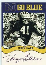 TERRY BARR AUTO TK LEGACY MICHIGAN WOLVERINES AUTOGRAPH MGB61