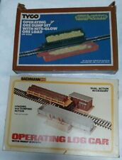 2 HO SCALE OPERATING DUMP SETS BACHMAN #1427 DUAL ACTION TYCO #916 NITE-GLOW ORE