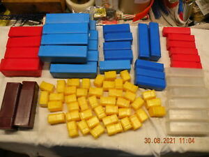 Quantity of plastic drill cutter boxes small parts cutter storage plastic cases