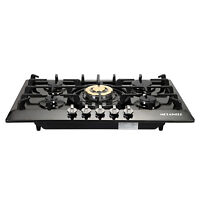 """30"""" Stainless Steel 5 Burners Built-In Stove Cooktop Gas NG/LPG Hob Cooker-US"""