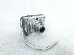 Canon PowerShot A560 7.1MP Digital Camera 4x Optical Zoom- Silver TESTED WORKING