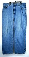 Izod Mens Blue Straight Leg 5 Pocket Comfort Fit Denim Jeans 38x32 Durable
