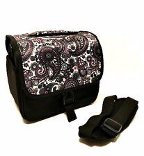 Camera Bag Black White Paisley Print Adjustable Shoulder Strap 9 inches Long