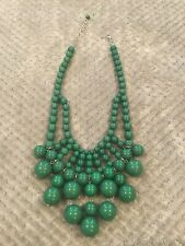 Large Kelly Green Bubble Bead Statement Necklace