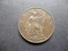 1917 FARTHING COIN KING GEORGE THE FIFTH GOOD USED CONDITION, BRONZE.