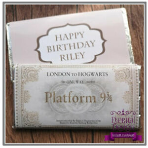 Large Chocolate Bar & Personalised Wrapper Kid children Gift Harry Potter Train