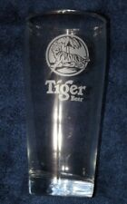 TIGER ½ PINT 330ml  CHINESE BEER LAGER GLASS THICK BASE