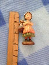 Anri 3 inch figure Girl goose in basket