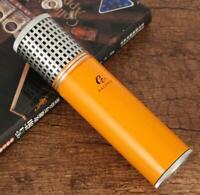 Galiner Travel Cigar Humidor Cases Tube Vintage Metal Humidity Box Hygrometer