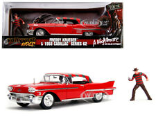 "1958 CADILLAC 62 W/FREDDY KRUEGER FIGURE ""A NIGHTMARE ON ELM ST"" 1/24 JADA 31102"