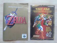 Instrucciones The Legend of Zelda Ocarina of Time n 64 Nintendo NTSC cuadernillo manual