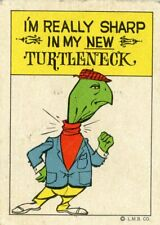 Vintage Advertising Turtleneck Sweater Anthropomorphic Turtle L.M.B. Co