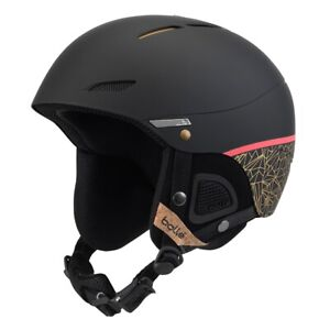 Bolle NEW Juliet Ski Helmet Black Rose Gold 52-54cm BNWT