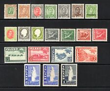 ICELAND EARLY TO MID PERIOD LIGHTLY & MOUNTED MINT RANGE x 21 STAMPS NOT CAT