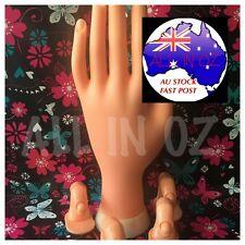 Practise / Display Kit Hand 4 Fingers Acrylic or UV Gel Nail Technician Art Tips
