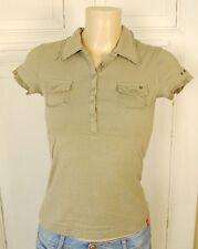 EDC BY ESPRIT Poloshirt T-Shirt Polo Shirt Gr. XS 34 Oliv Army Military (HG216)