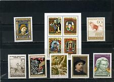 HUNGARY ART/PAINTINGS SMALL COLLECTION SET OF 7 STAMPS & S/S MNH